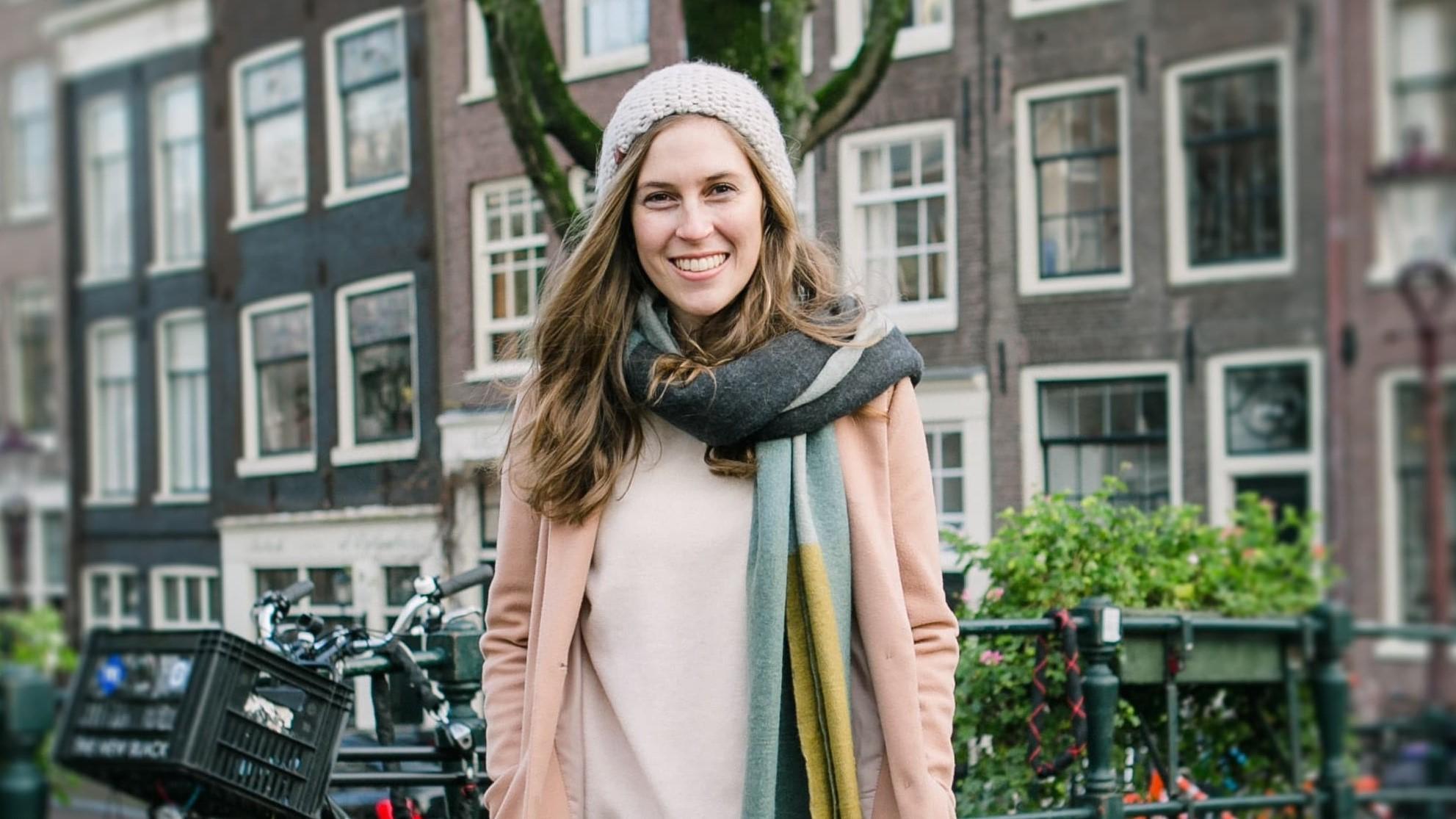 Foto Tina in Amsterdam