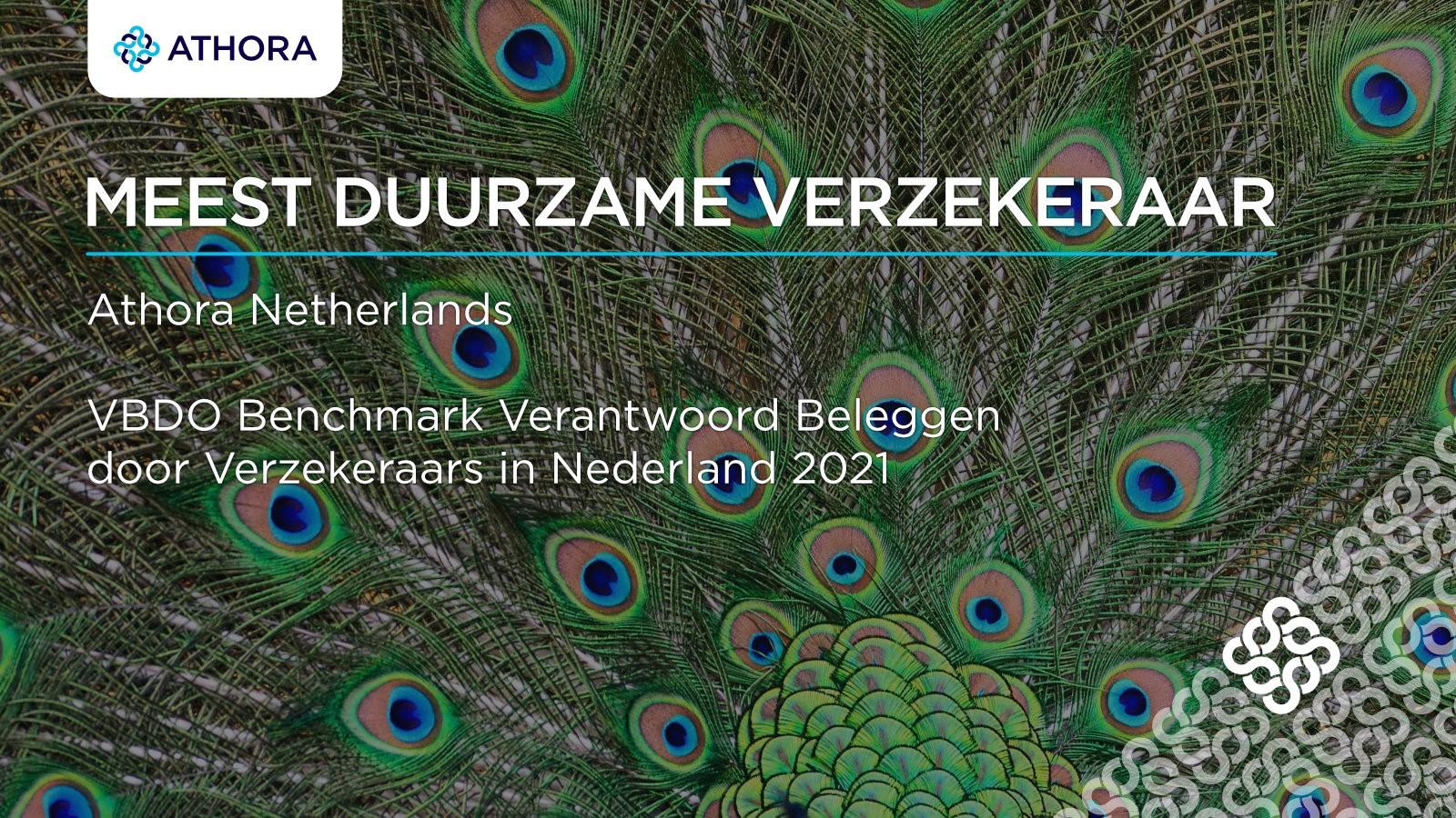 Athora Netherlands is de meest duurzame verzekeraar volgens de VBDO